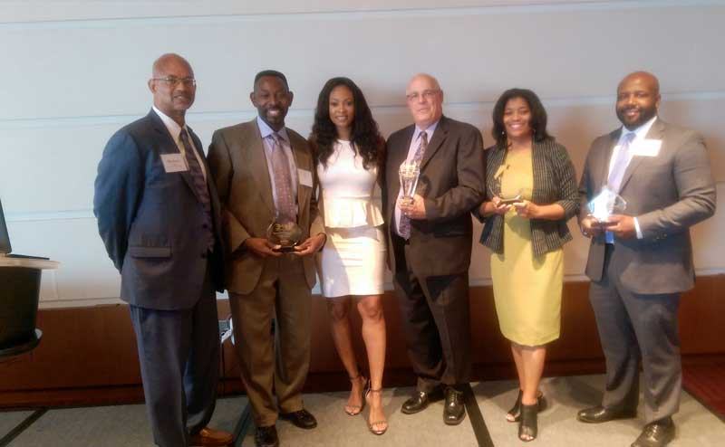 2016: ABNA accepts Award from National Organization of Minority Engineers (NOME) for Top Minority Achiever Acting as Prime on the Illinois State Toll Highway Authority's Jane Addams Memorial Tollway (I-90) and Lee Street Interchange Project.