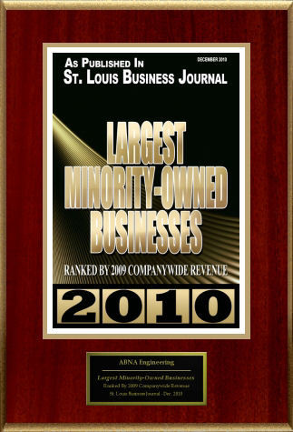 2010: St. Louis Business Journal names ABNA Largest Minority-Owned Businesses